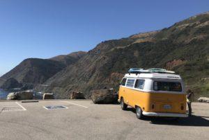 Quelque part en Californie avec un van Westfalia !