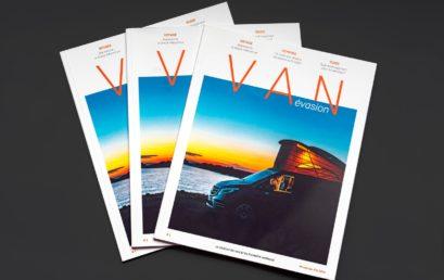 Van Évasion, le magazine gratuit 100 % vans et fourgons aménagés